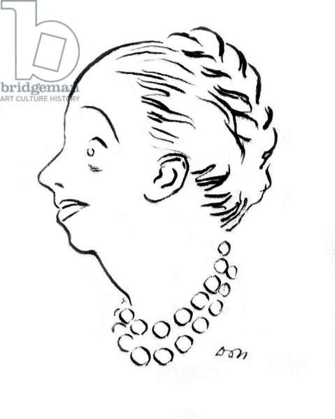 Jeanne Lanvin, line drawing.