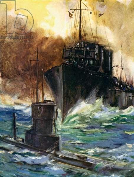 World War I- H.M.S. Badger