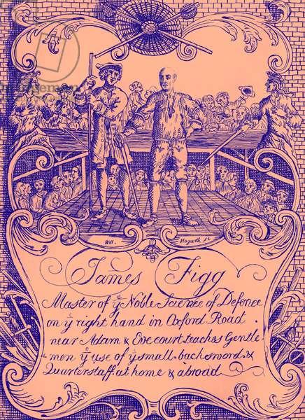 James Figg - advertisment by William Hogarth, c. 1729/30