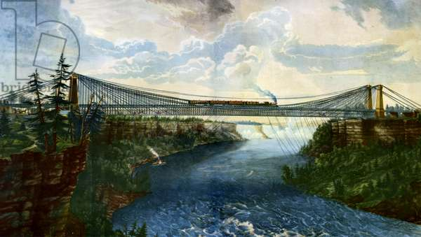 Suspension Bridge between United States and Canada, 1856