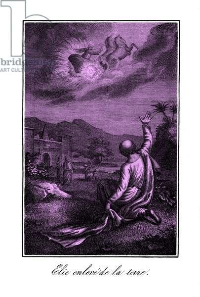 The prophet Elijah ascends into heaven - Bible
