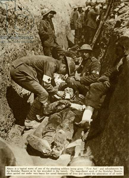 Wounded soldier WW1