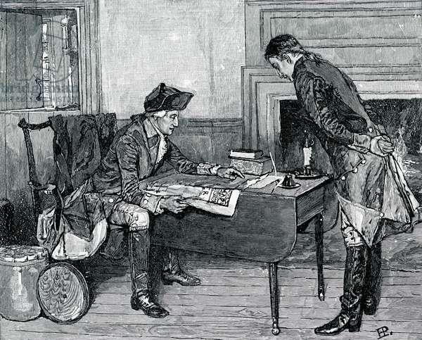 Nathan Hale and George Washington