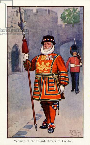 Yeoman of the Guard, Tower of London, 1911