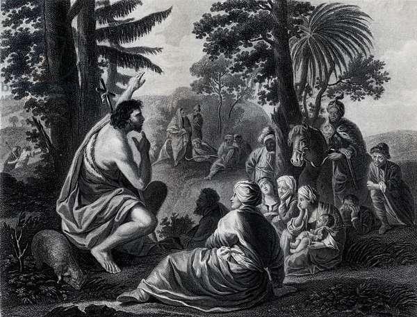 St John preaching in the wilderness