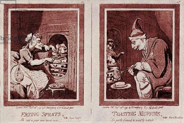 'Farmer George and his Wife' : George III  caricature