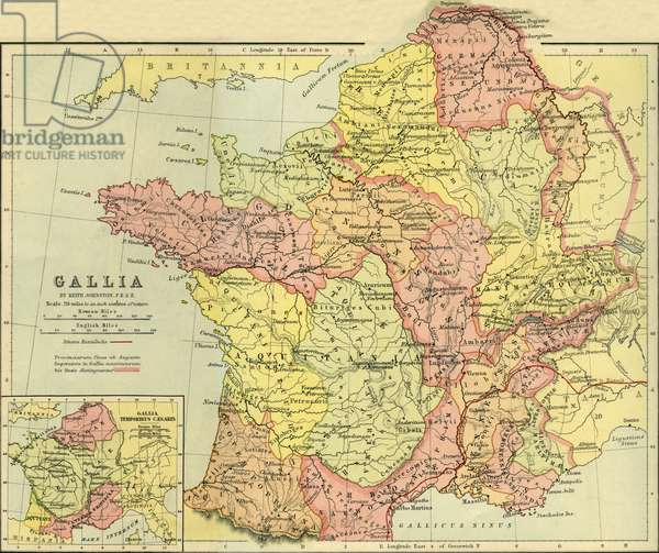 Maps of France from classical antiquity