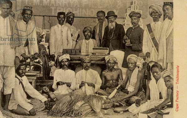 Cigar factory in Trichinopoly, India
