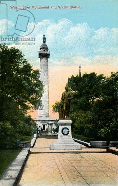 Baltimore: Washington Monument and Wallis Statue