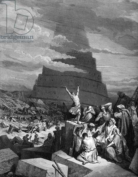 The Confusion of Tongues (Tower of Babel). - Bible