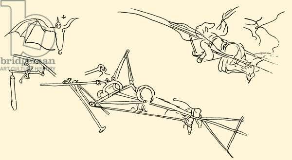 Flying Machines - from drawing by Leonardo da Vinci