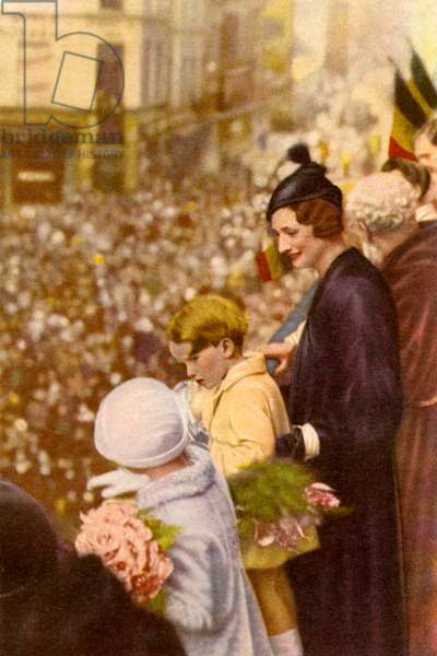 Astrid of Sweden with her children