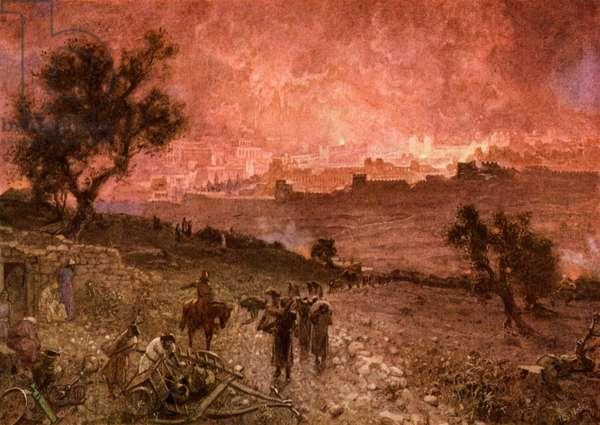 The destruction of Jerusalem by Nebuzar-Adan - Bible