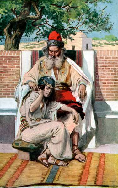 David and Abishag by J James Tissot - Bible