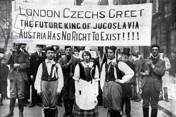 Czech Demonstration in London during World War 1
