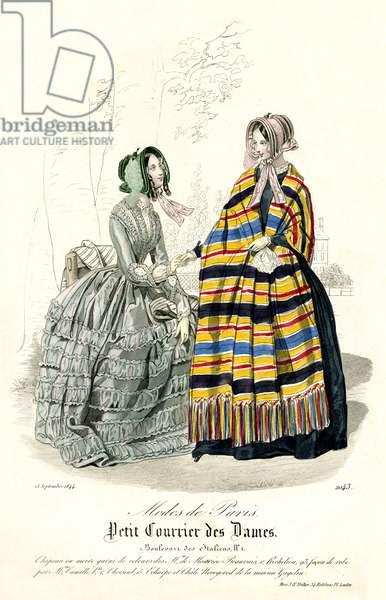 Parisian fashion, 1844