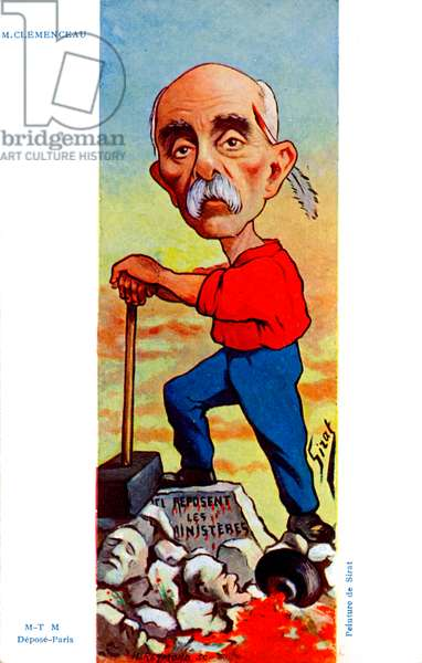 Georges Clemenceau - caricature by Sirat