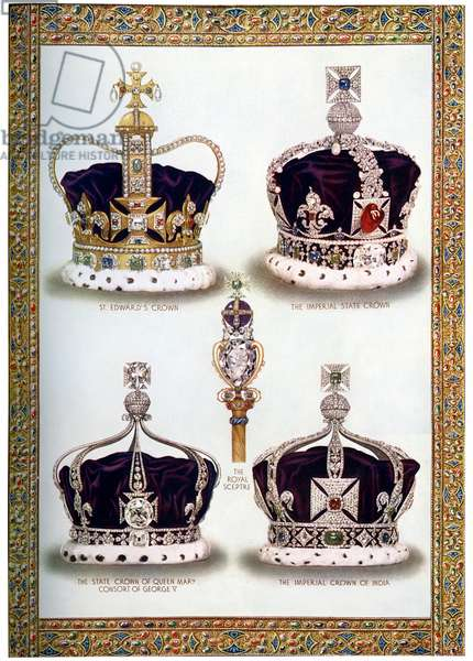 Royal crowns and sceptre