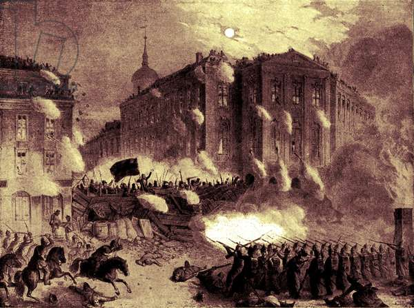 The Alexander Square barricade, Berlin, 18 March 1848