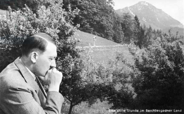 HITLER Adolf - with chin on fist in Berchtesgaden region, circa 1938