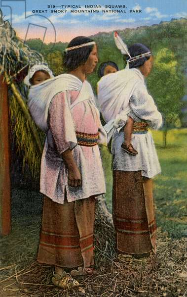 Native American women on the Smoky Mountains