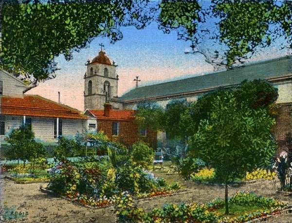 California: Mission San Buena Ventura and Garden
