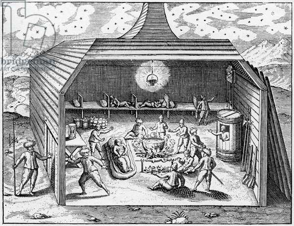 The winter camp of the Barents expedition