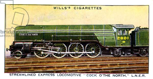 Streamlined Express Locomotive 'Cock o' the North'