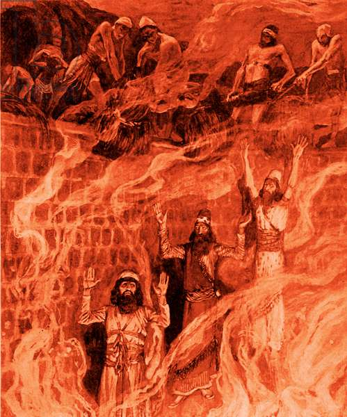 In the fiery furnace by J James Tissot - Bible