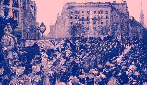 The funeral of General Sherman