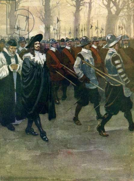 King Charles I walks to the scaffold at Whitehall