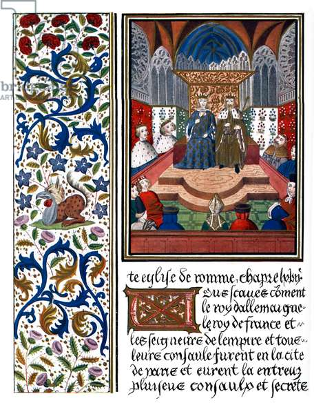 Illuminated page of Wenceslaus and Charles VI