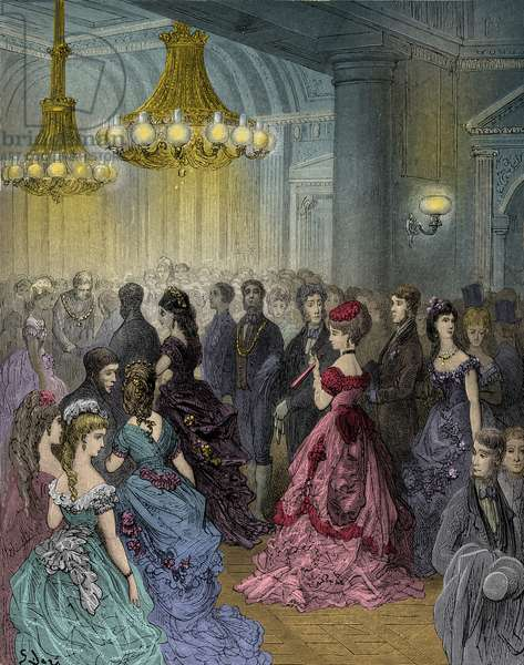Victorian ball   by  Gustave Doré