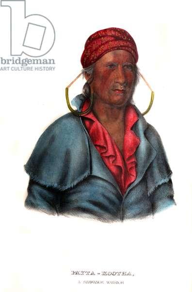 Paytakootha ('Flying Clouds'), a Shawnee warrior