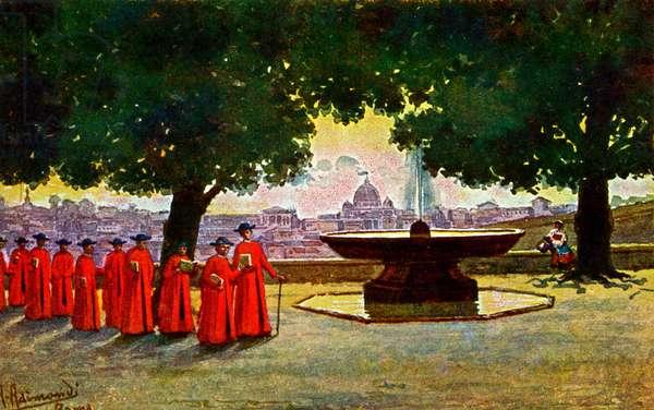 ROME Veduta dall'Academia di