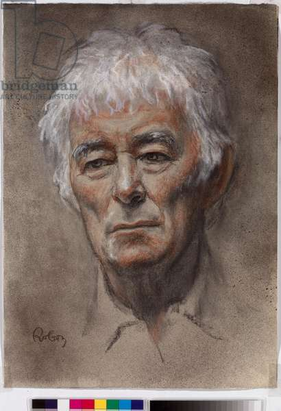 Seamus Heaney: Study for Stepping Stones - portrait by Zsuzsi Roboz