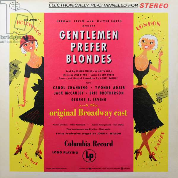 Gentlemen prefer blondes LP vinyl cover