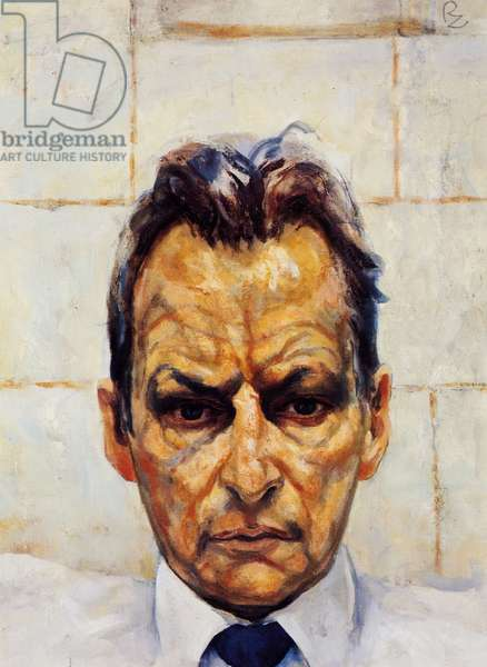 Lucian Freud (oil on canvas)