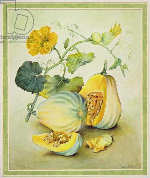 Golden Pumpkins, 1990 (w/c on paper)
