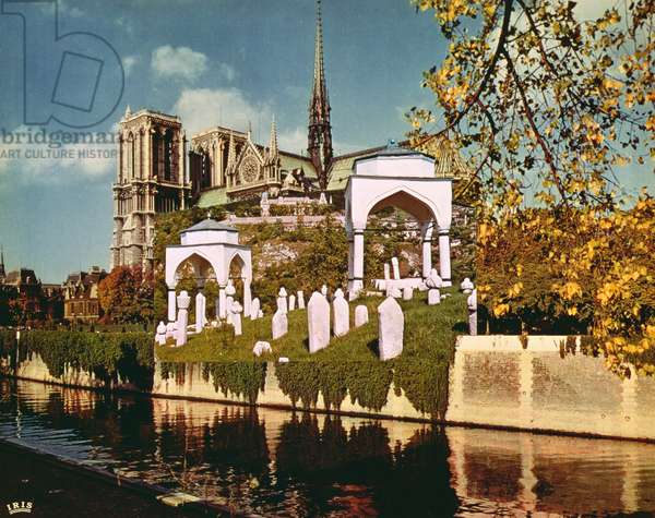 Sarajevo-Paris-Sarajevo, the cemetery of Sarajevo and Notre Dame, from the series 'Le Triomphe de Sarajevo', 1994 (photo collage)