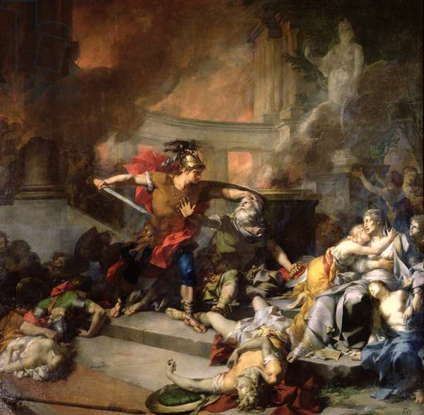 The Death of Priam, 1785 (oil on canvas)