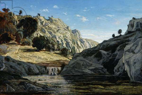 Memories of Ollioules gorge, 1861 (oil on canvas)