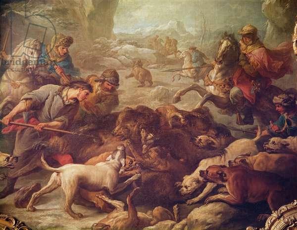 The Bear Hunt (oil on canvas)
