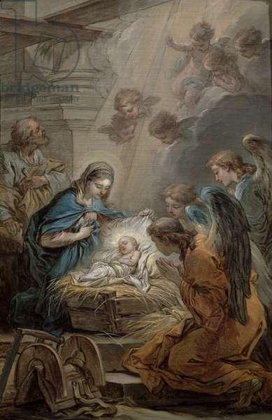 Nativity (oil on canvas)