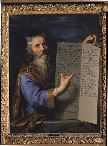 Moses with the Tablets of the Law, 1663 (oil on canvas)