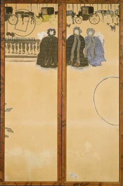 Promenade des Nourrices, 1894 (distemper on unprimed canvas)