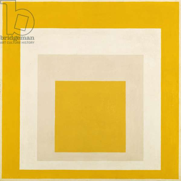 Homage to the Square: Two Whites Between Two Yellows, 1958 (oil on composition board)