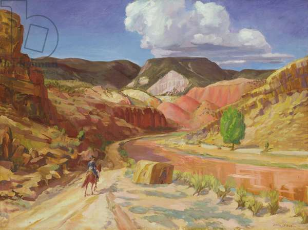 Chama Running Red, 1925 (oil on canvas)