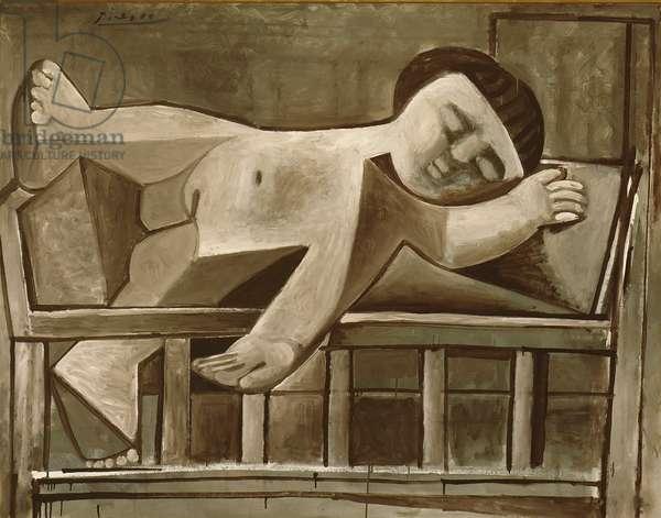 Paloma Sleeping, 1952 (oil on canvas)