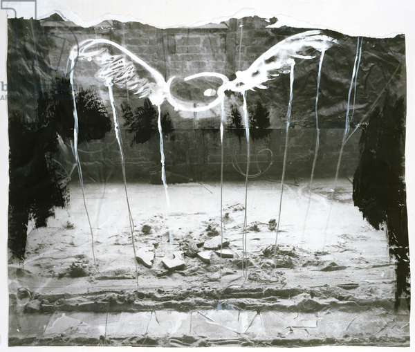 Palette with Wings, 1981 (mixed media)